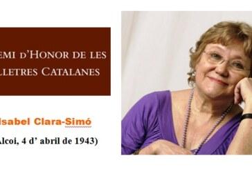 Isabel Clara Simó: Premi d'Honor de les Lletres Catalanes