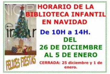 Horario de la Biblioteca Infantil Miguel Hernández en Navidad