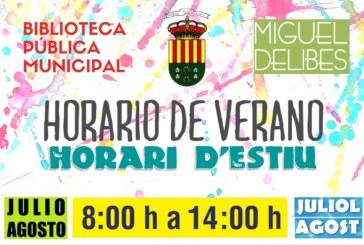 Horario de verano de la Biblioteca Miguel Delibes