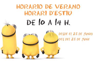 Horario de verano de la Biblioteca infantil Miguel Hernández