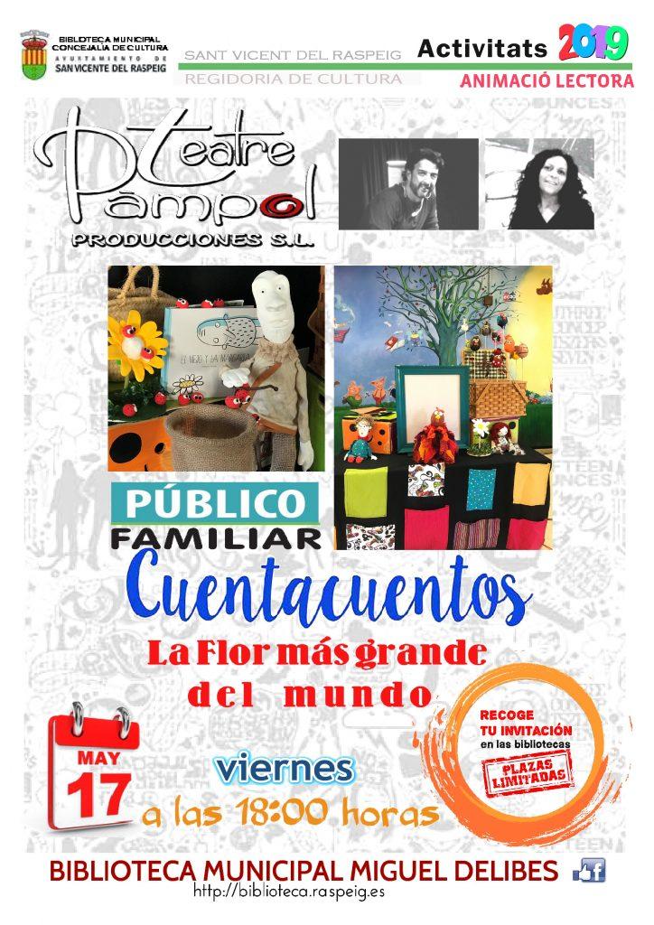 """Cuentacuentos para público familiar: """"La flor más grande del mundo"""" @ Biblioteca Municipal Miguel Delibes"""