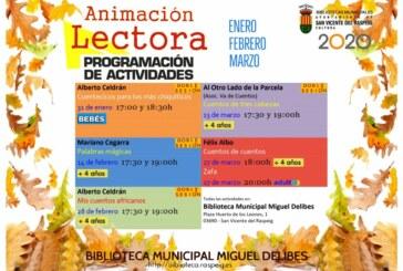 Animación a la Lectura en la Biblioteca Municipal Miguel Delibes (primer trimestre 2020)