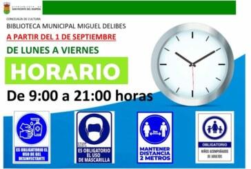 Cambio de horario de la Biblioteca Municipal Miguel Delibes