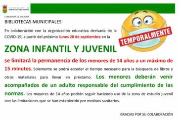 Restricciones temporales en las zonas infantiles de las bibliotecas