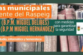 Nuevas medidas de las Bibliotecas Municipales a partir del 26 de enero de 2021